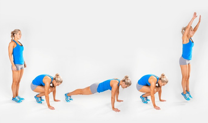 Burpees fit nicely into a HIIT routine