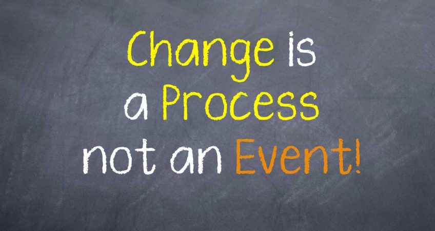 Lifestyle change is a process, not an event